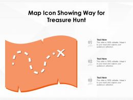 Map Icon Showing Way For Treasure Hunt