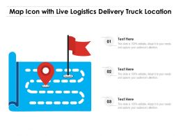 Map Icon With Live Logistics Delivery Truck Location