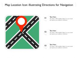 Map Location Icon Illustrating Directions For Navigation
