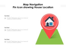 Map Navigation Pin Icon Showing House Location