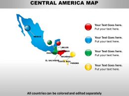 Map Of Central America 1314