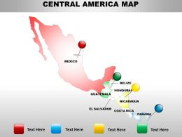 Map Of Central America Countries 1314