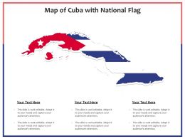Map Of Cuba With National Flag