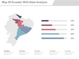 Map Of Ecuador With State Analysis Powerpoint Slides