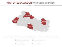 Map Of El Salvador With State Highlight Powerpoint Slides