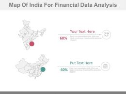 Map Of India For Financial Data Analysis Powerpoint Slides
