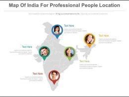 Map Of India For Professional People Location Powerpoint Slides