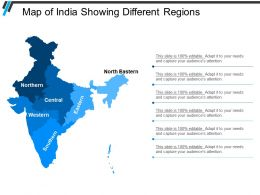 Map Of India Showing Different Regions