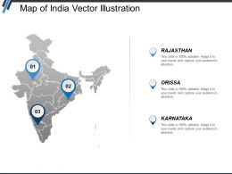 Map Of India Vector Illustration