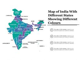 Map Of India With Different States Showing Different Colours