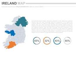 Map Of Ireland With Percentage Analysis Powerpoint Slides