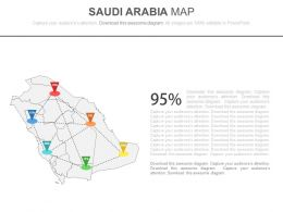 Map Of Saudi Arabia With Networking Powerpoint Slides