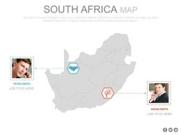 Map Of South Africa With Business Professionals Powerpoint Slides