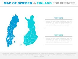 Map Of Sweden And Finland For Business Powerpoint Slides