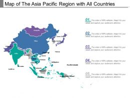 Map Of The Asia Pacific Region With All Countries