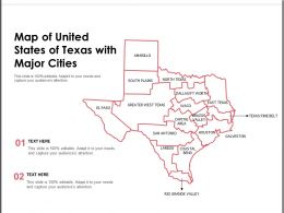 Map Of United States Of Texas With Major Cities