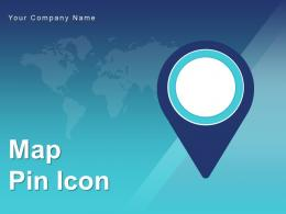 Map Pin Icon Location Depicting Globe Representing Travel Journey