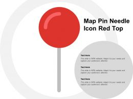 Map Pin Needle Icon Red Top