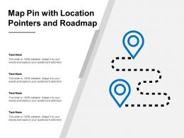 Map Pin With Location Pointers And Roadmap