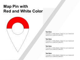 Map Pin With Red And White Color