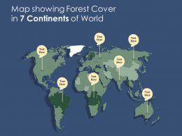 Map Showing Forest Cover In 7 Continents Of World