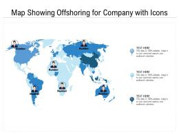 Map Showing Offshoring For Company With Icons