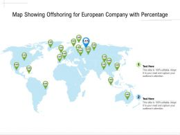 Map Showing Offshoring For European Company With Percentage