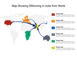 Map Showing Offshoring In India From World