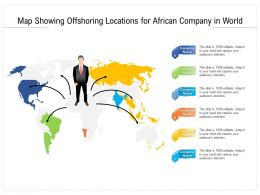 Map Showing Offshoring Locations For African Company In World