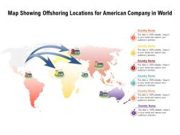 Map Showing Offshoring Locations For American Company In World
