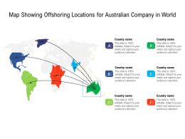 Map Showing Offshoring Locations For Australian Company In World