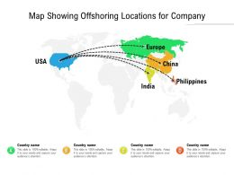 Map Showing Offshoring Locations For Company