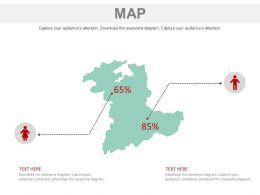 Map With Gender Ratio Analysis Powerpoint Slides