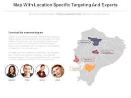 Map With Location Specific Targeting And Experts Powerpoint Slides