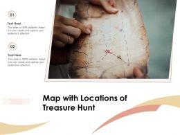 Map With Locations Of Treasure Hunt