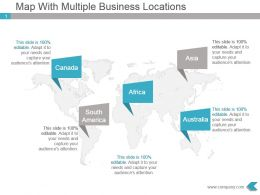 Map With Multiple Business Locations Powerpoint Design