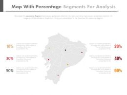 Map With Percentage Segments For Analysis Powerpoint Slides