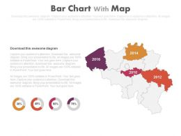 Map With Years And State Percentage Diagram Powerpoint Slides