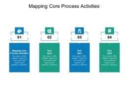 Mapping Core Process Activities Ppt Powerpoint Presentation Themes Cpb