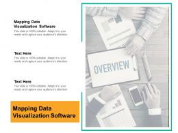 Mapping Data Visualization Software Ppt Powerpoint Presentation Show Background Cpb