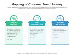 Mapping Of Customer Brand Journey