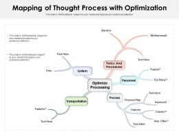 Mapping Of Thought Process With Optimization