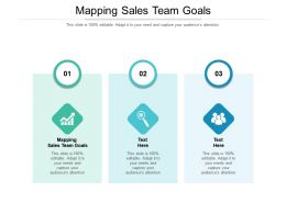 Mapping Sales Team Goals Ppt Powerpoint Presentation Ideas Deck Cpb