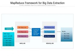 MapReduce Framework For Big Data Extraction