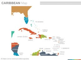 Maps In Powerpoint Showing Caribbean Region Countries
