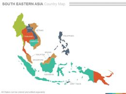 Maps Of South Eastern Asia Region Continent Countries In Powerpoint