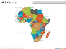 Maps Of The African Africa Continent Countries In Powerpoint