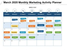 March 2020 Monthly Marketing Activity Planner