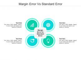 Margin Error Vs Standard Error Ppt Powerpoint Presentation Slides Brochure Cpb