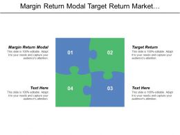 Margin Return Modal Target Return Market Attachment  Positioning Strategy